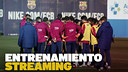 Training session ahead Copa del Rey Final / FCB