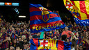 Amabiance festive au Camp Nou