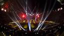 Imagen del Camp Nou iluminado al inicio de la fiesta del doblete / VÍCTOR SALGADO - FCB