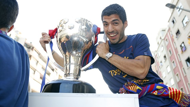 Luis Suárez played a key part in the club's success with his 59 strikes / MIGUEL RUIZ - FCB