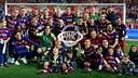 国王杯を祝うバルサ / FCB