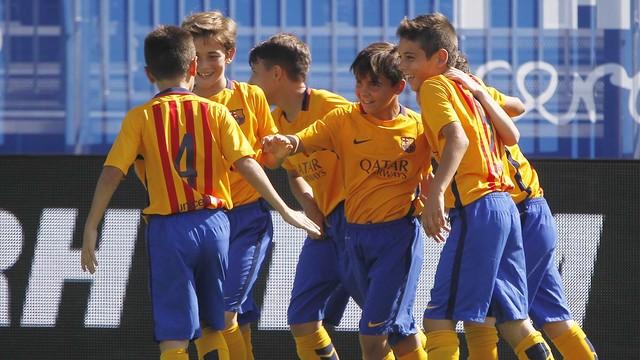 ef8596d20 Las mejores dianas del fin de semana en el fútbol formativo azulgrana   Javier Fernandez Auditor