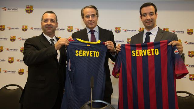 Javier Faus, juntamente con Josep y Francesc Serveto. FOTO: GERMÁN PARGA - FCB