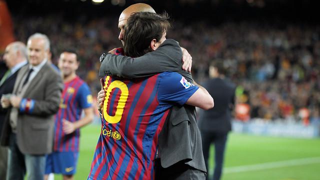Messi i Guardiola, al derbi 2011/12. FOTO: MIGUEL RUIZ-FCB.