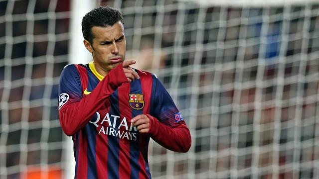Gol de Pedro contra el Celtic.
